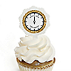 New Year's Eve - Gold - New Year's Eve Party Cupcake Pick and Sticker Kit - 12 ct