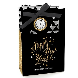New Year's Eve - Gold - Personalized New Years Eve Party Favor Boxes - Set of 12