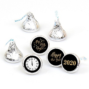 New Year's Eve - Gold - 108 Round Candy Labels 2020 New Years Eve Party Favors - Fits Hershey Kisses
