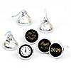 New Year's Eve - Gold - 108 Round Candy Labels 2019 New Years Eve Party Favors - Fits Hershey Kisses