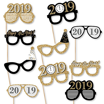 New Years Eve Gold 10 Piece 2019 Paper Card Stock New Years Eve