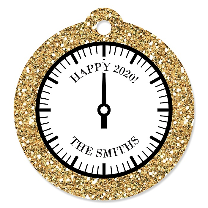 New Year's Eve - Gold - 2020 New Year's Eve Party Tags - 20 ct