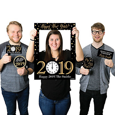 New Years Eve Gold Personalized 2019 New Years Eve Selfie Photo