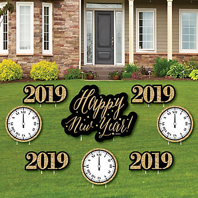 New Year\'s Eve - Gold - Yard Sign & Outdoor Lawn Decorations - 2019 ...
