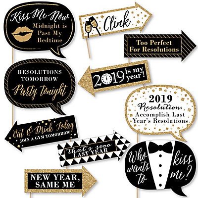 Funny 2019 New Years Eve 10 Piece New Years Eve Photo Booth