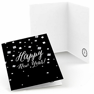 New Year's Eve - Silver - New Year's Eve Thank You Cards - 8 ct