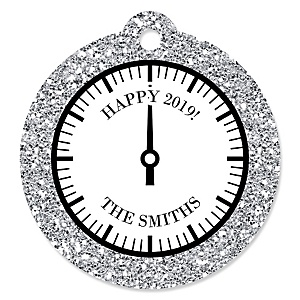 New Year's Eve - Silver - New Year's Eve Party Tags - 20 ct
