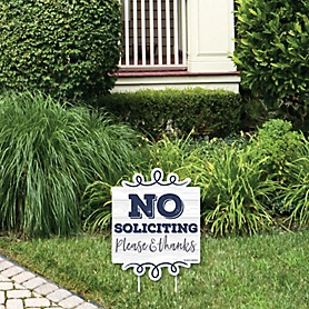 No Soliciting - Outdoor Lawn Sign - Yard Sign - 1 Piece