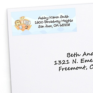 Noah's Ark - Personalized Baby Shower Return Address Labels - 30 ct