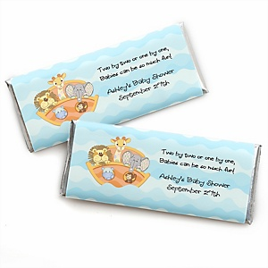 Noah's Ark - Personalized Candy Bar Wrappers Baby Shower Favors - Set of 24