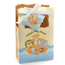 Noah's Ark - Personalized Baby Shower Favor Boxes - Set of 12