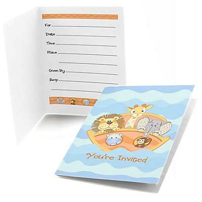 Noahu0027s Ark   Fill In Baby Shower Invitations   8 Ct | BigDotOfHappiness.com