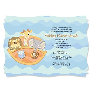 Noah's Ark - Personalized Baby Shower Invitations - Set of 12