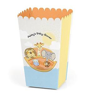 Noah's Ark - Personalized Party Popcorn Favor Treat Boxes - Set of 12