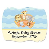 Noah's Ark - Personalized Baby Shower Squiggle Stickers - 16 ct