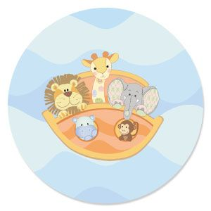 Noahs Ark Shaped Baby Shower Paper CutOuts BigDotOfHappinesscom