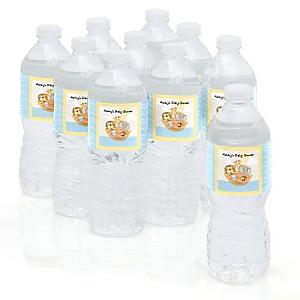 Noah's Ark - Personalized Baby Shower Water Bottle Sticker Labels - Set of 10
