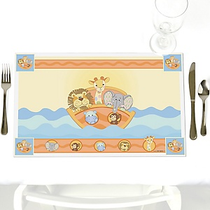 Noah's Ark - Party Table Decorations - Baby Shower Placemats - Set of 12