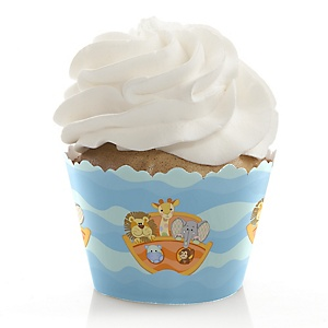 Noah's Ark - Baby Shower Decorations - Party Cupcake Wrappers - Set of 12