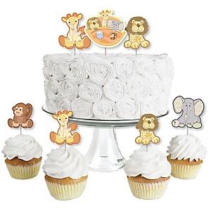 Noah's Ark - Dessert Cupcake Toppers - Baby Shower Clear Treat Picks - Set of 24