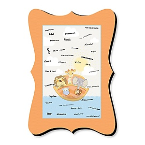 Noah's Ark - Unique Alternative Guest Book - Baby Shower Signature Mat