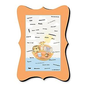 Noah's Ark - Unique Alternative Guest Book - Baby Shower Signature Mat