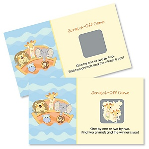 Noah's Ark - Baby Shower Game Scratch Off Cards - 22 ct