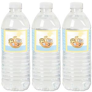 Noah's Ark - Baby Shower Water Bottle Sticker Labels - Set of 20
