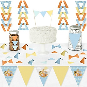 Noah's Ark - DIY Pennant Banner Decorations - Baby Shower Triangle Kit - 99 Pieces