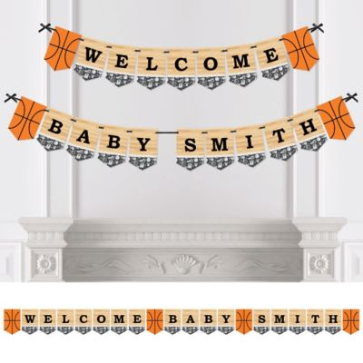 Amazing Nothinu0027 But Net   Basketball   Personalized Party Bunting Banner U0026  Decorations