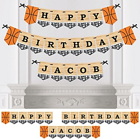 Nothin' But Net - Basketball - Personalized Birthday Party Bunting Banner & Decorations