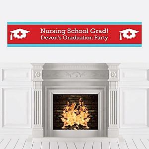 Nurse Graduation - Personalized Medical Nursing Graduation Party Banner