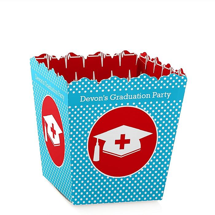 Nurse Graduation - Party Mini Favor Boxes - Personalized Medical Nursing Graduation Treat Candy Boxes - Set of 12