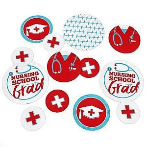 Nurse Graduation - Medical Nursing Graduation Party Giant Circle Confetti - Grad Party Decorations - Large Confetti 27 Count
