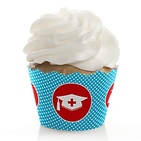 Nurse Graduation - Medical Nursing Graduation Decorations - Party Cupcake Wrappers - Set of 12
