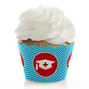 Nurse Graduation - Medical Nursing Graduation Decorations - Party Cupcake Wrappers - Set of 12