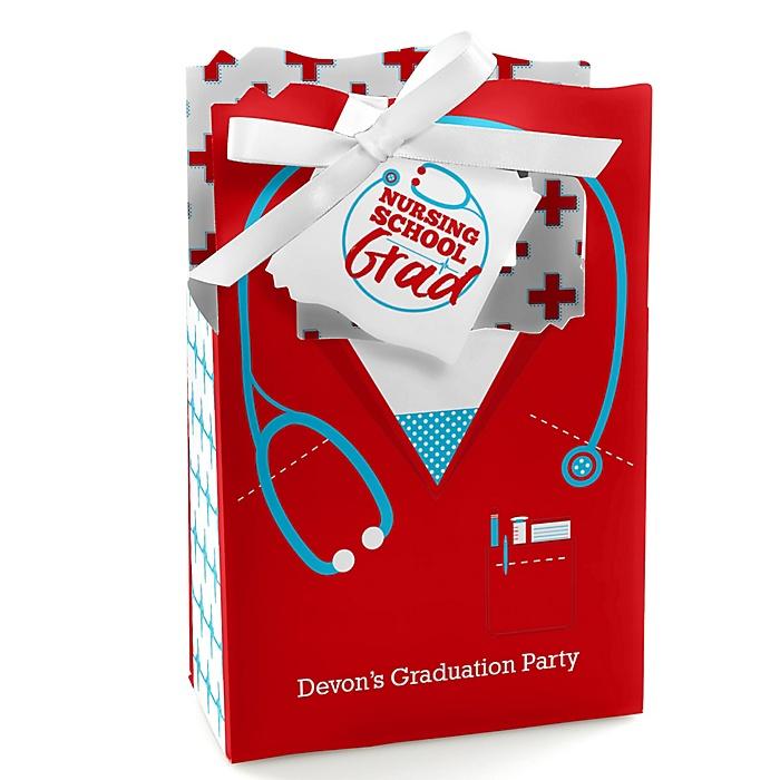 Nurse Graduation - Personalized Medical Nursing Graduation Favor Boxes - Set of 12