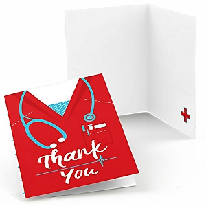 Nurse Graduation - Medical Nursing Graduation Party Thank You Cards - 8 ct