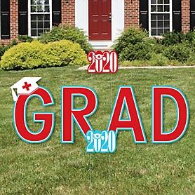Nurse Graduation - Yard Sign Outdoor Lawn Decorations - 2020 Graduation Party Yard Signs - GRAD