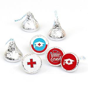 Nurse Graduation - Round Candy Labels Medical Nursing Graduation Party Favors - Fits Hershey's Kisses 108 ct