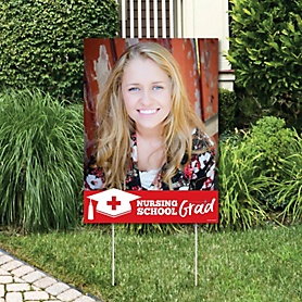 Nurse Graduation - Photo Yard Sign - 2020 Medical Nursing Graduation Party Decorations