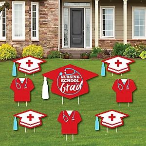 Nurse Graduation - Yard Sign & Outdoor Lawn Decorations – Medical Nursing Graduation Party Yard Signs - Set of 8