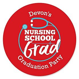 Nurse Graduation - Personalized Medical Nursing Graduation Sticker Labels - 24 ct