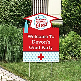 Nurse Graduation - Party Decorations - Medical Nursing Graduation Party Personalized Welcome Yard Sign