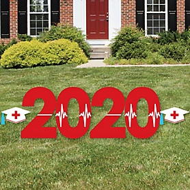 Nurse Graduation - 2020 Yard Sign Outdoor Lawn Decorations - Medical Nursing Graduation Party Yard Signs - 2020
