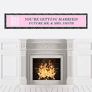 OMG, You're Getting Married! - Personalized Engagement Party Banners