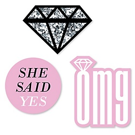 OMG, You're Getting Married! - DIY Shaped Engagement Party Paper Cut-Outs - 24 ct