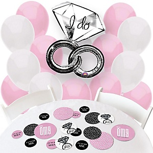 OMG, You're Getting Married! - Confetti and Balloon Engagement Party Decorations - Combo Kit