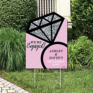 OMG, You're Getting Married! - Party Decorations - Engagement Party Personalized Welcome Yard Sign