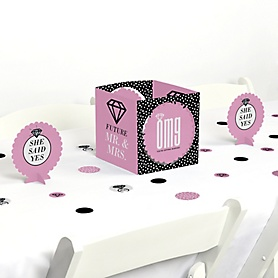 OMG, You're Getting Married! - Engagement Party Centerpiece and Table Decoration Kit